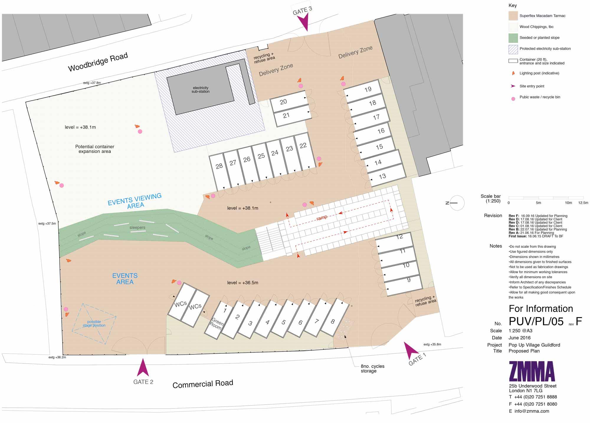 Plan of Guilford Pop Up Village