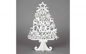 Christmas Wishes Cut Out Tree Decoration