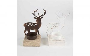 Day & Night Stag T-Light Holder