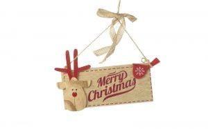 Merry Christmas- Reindeer Sign