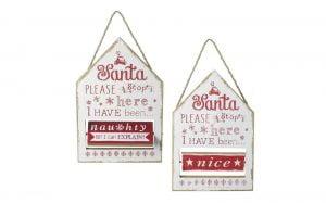 Santa Please Stop Here Plaque