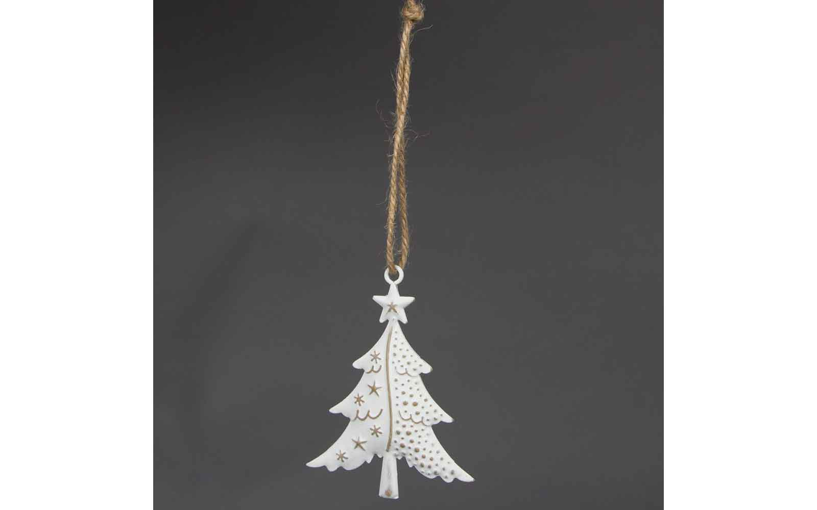 Snowy Christmas Tree Decoration Surrey Home And Gifts