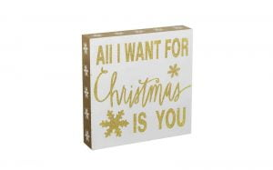 Wooden All I Want For Christmas Sign