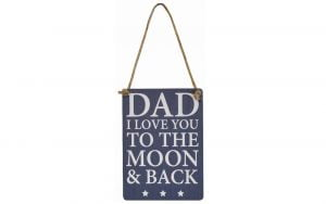Dad Moon and Back Mini Metal Sign