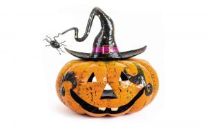 Metal Pumpkin Candle Holder