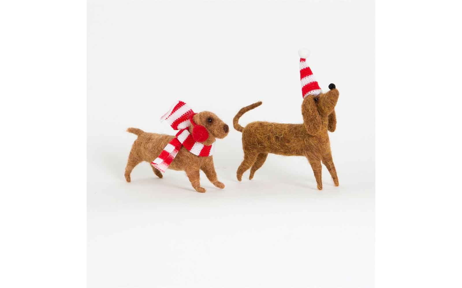 Assorted Winter Wear Dachshund Felt Decoration