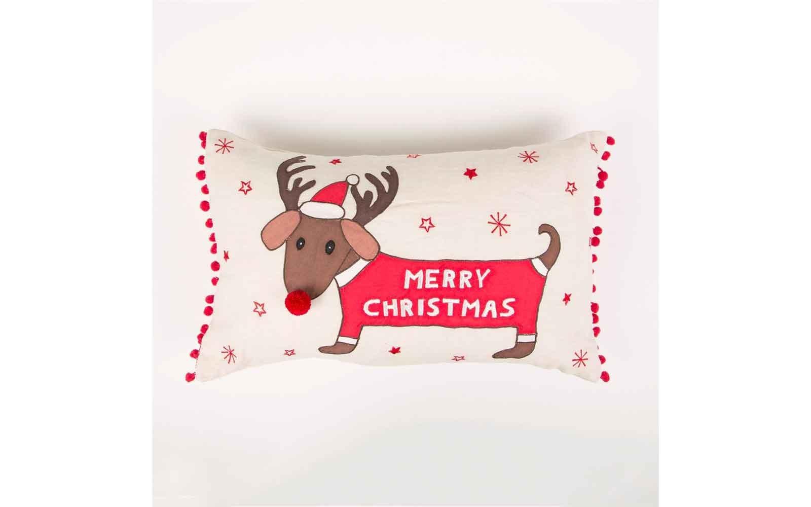 Merry Dachshund Cushion