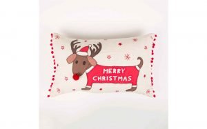 Merry Dachshund Cushion