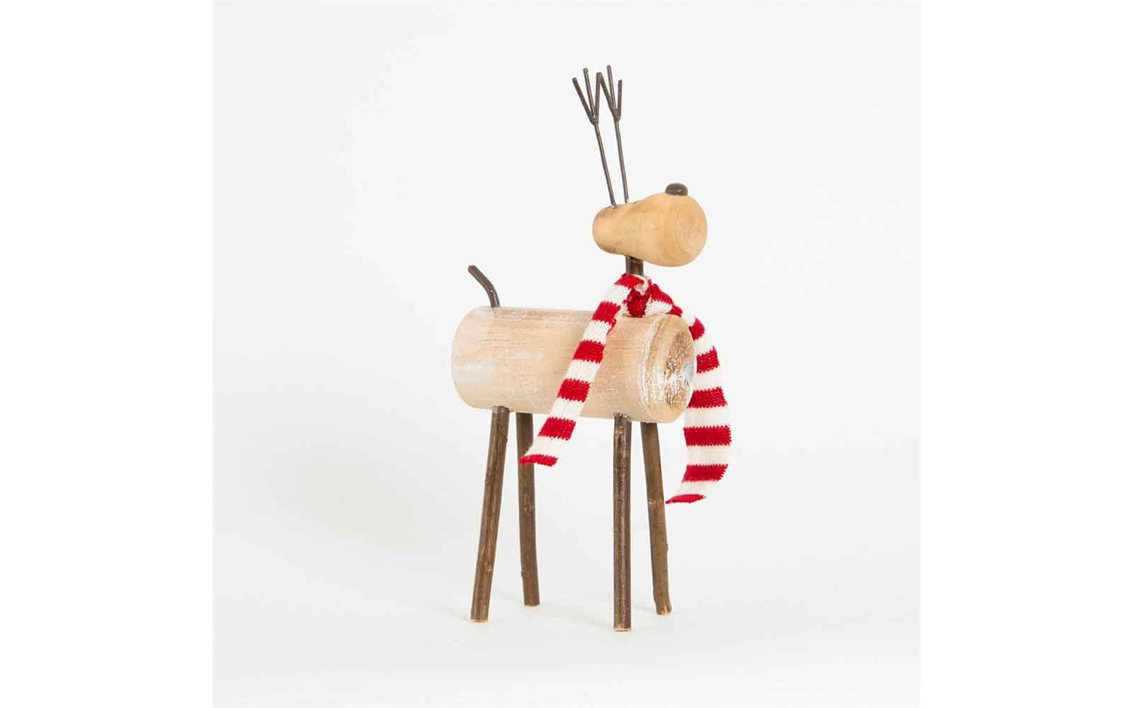 Reindeer with Scarf Decoration