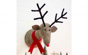 Rudi The Reindeer Wall Decoration