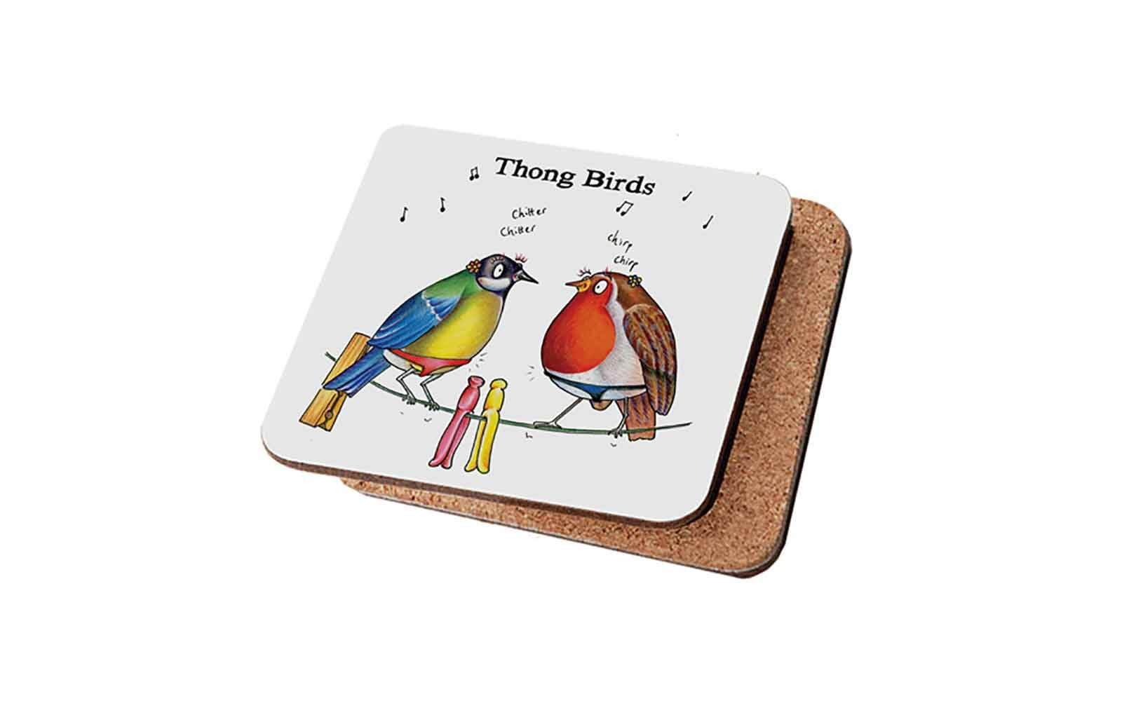 Thong Birds Coaster