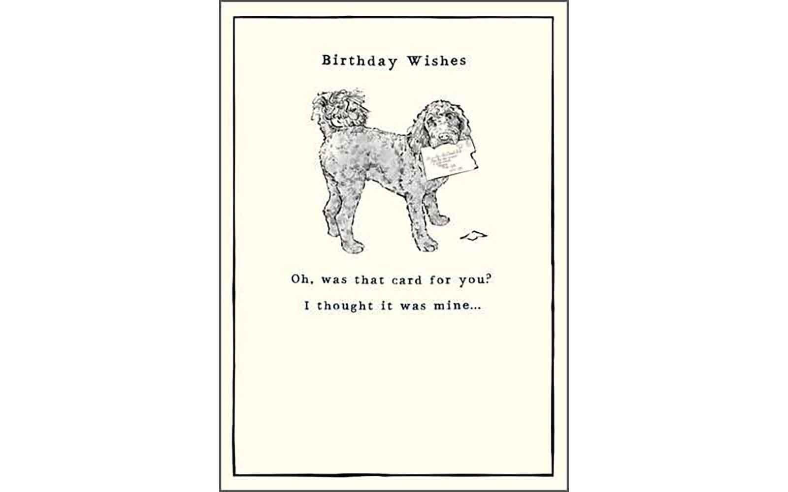 Birthday Wishes Dog Card