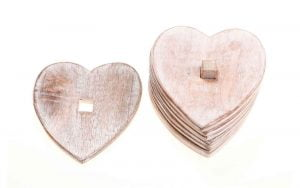 Wooden Heart Coasters