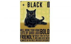 Black Cat Plaque