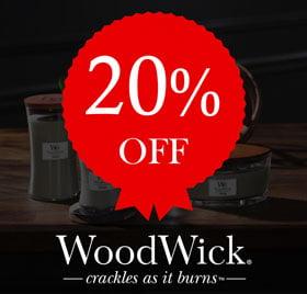 20% off Woodwick