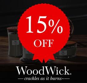 15% off Woodwick
