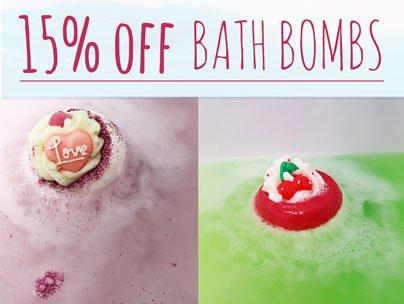 15% off Bath Bombs