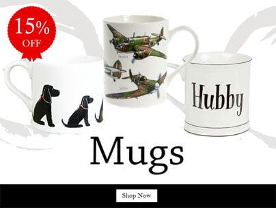 15% off Mugs