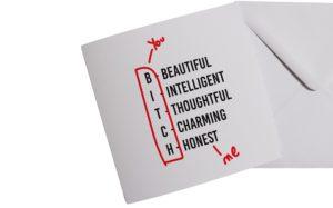 B-I-T-C-H Card