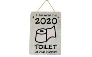 Toilet Paper Crisis Mini Metal Plaque