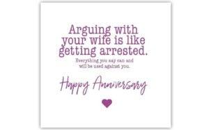 Arguing Anniversary Card