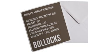 English to American Translation Card