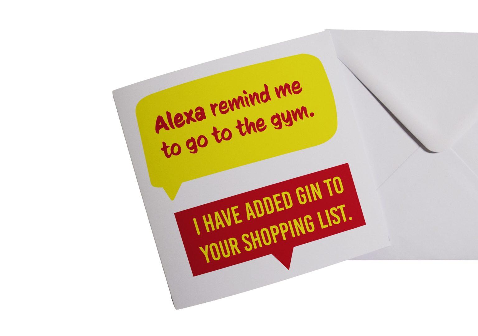 Alexa and Gin Card