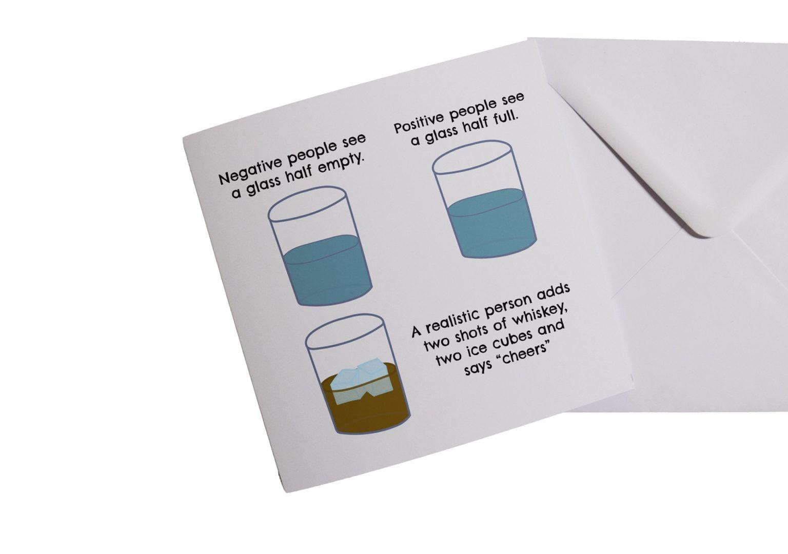 Glass Half Empty Card