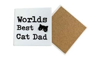 Worlds Best Cat Dad Coaster