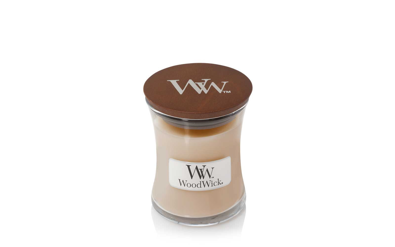 Woodwick Mini Candle in White Honey