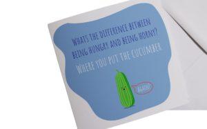 Horney Cucumber Card