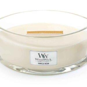 Woodwick Hearthwick Candle in Vanilla Bean