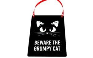 Beware the Grumpy Cat Midi Metal Plaque