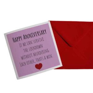 Anniversary Lockdown Card