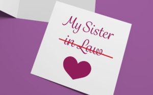 Sister in Law Card