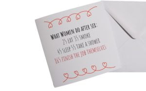 What women do after sex Valentines Card