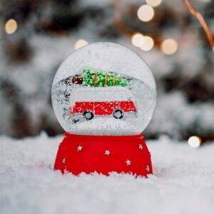 Christmas Campervan Snow globe