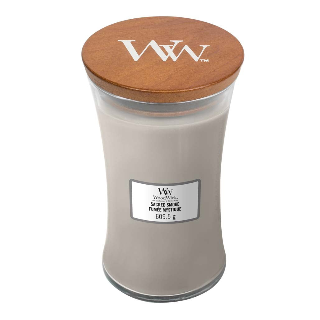 Woodwick Large Candle in Sacred Smoke