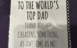 World's Top Dad Card