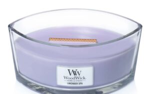 Woodwick Hearthwick Candle in Lavender Spa