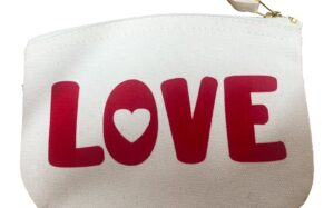 Love is Red Flock Organic Cotton Purse