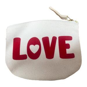 Love is Red Flock Organic Cotton Purse