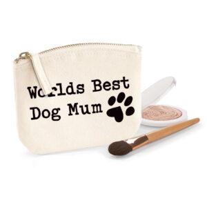 Worlds Best Dog Mum Organic Cotton Purse
