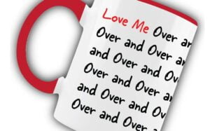 Love me Over and Over Red Mug