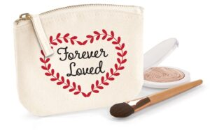 Forever Loved Red Flock Organic Cotton Purse
