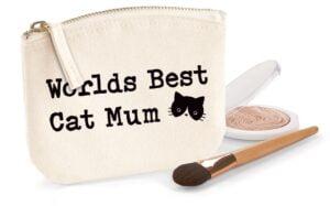 Worlds Best Cat Mum Organic Cotton Purse