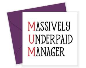 Underpaid Mum Card