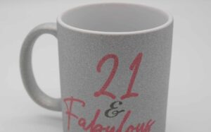 21 and fabulous mug close up