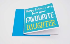 Father's Day Favourite Daughter Card style