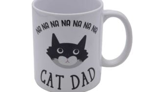 Masked Cat Dad Mug